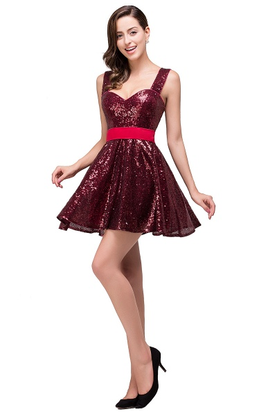 Excellent Sequined A-line Homecoming Dress_6