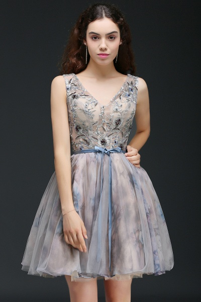 Wonderful Straps Satin A-line Homecoming Dress_5