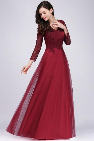 Marvelous V-neck Tulle A-line Prom Dress_6