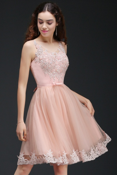Best Straps Satin A-line Homecoming Dress_6