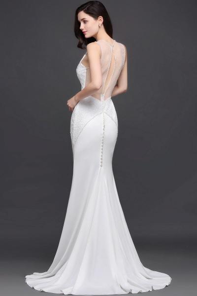 Modest Jewel Chiffon Mermaid Evening Dress_7