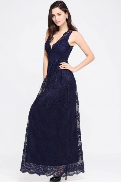 Amazing V-neck Lace Column Bridesmaid Dress_11