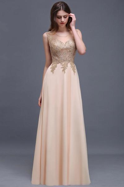ALAYNA | Sheath Jewel Long Chiffon Evening Dresses With Applique_7