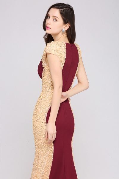 ANYA | Mermaid Scoop Burgundy Pretty Evening Dresses_5