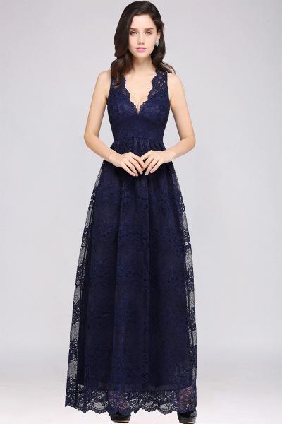Amazing V-neck Lace Column Bridesmaid Dress_9