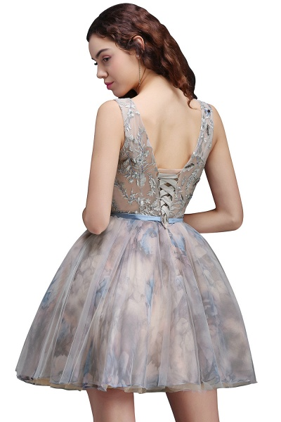 Wonderful Straps Satin A-line Homecoming Dress_3