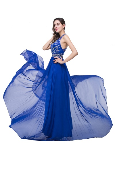 Eye-catching Jewel Tulle A-line Evening Dress_8