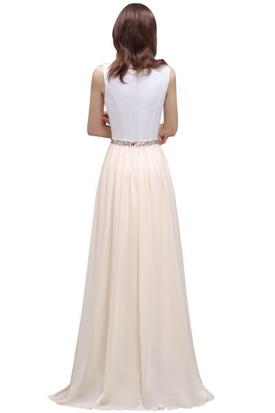 ALAYA   Sheath Jewel White Long Evening Dresses With Beads_3