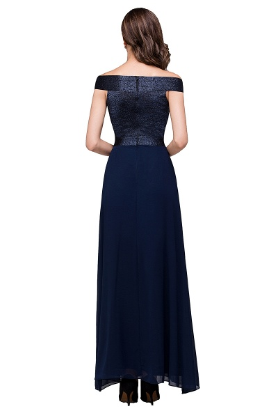 FRANCESCA | Sheath Off Shoulder Floor-Length Chiffon Prom Dresses_3