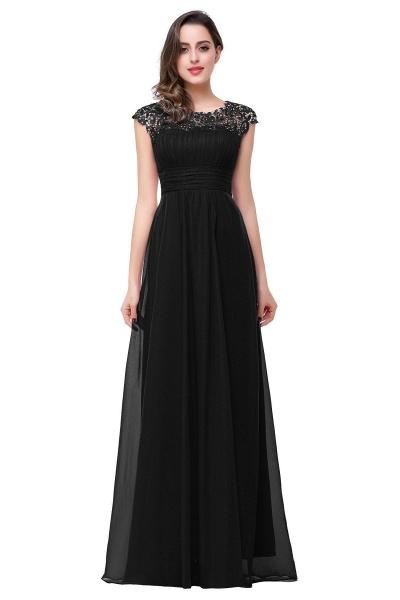 EMMELINE | A-Line Cap Sleeves Floor-Length Chiffon Prom Dresses_3