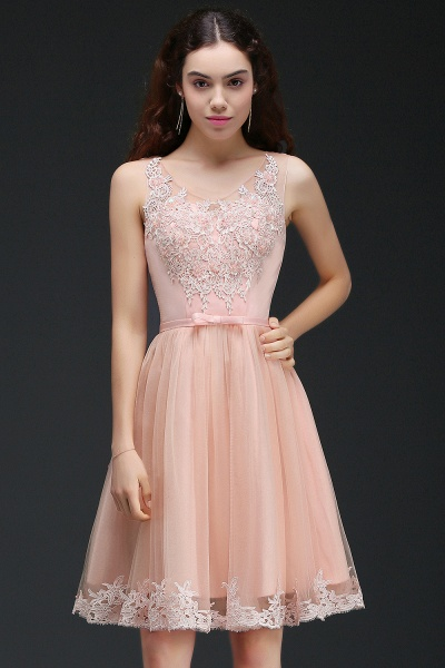 Best Straps Satin A-line Homecoming Dress_4