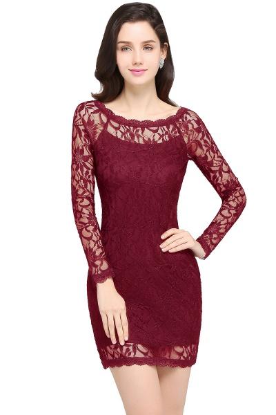 Amazing Jewel Lace Mermaid Bridesmaid Dress_2