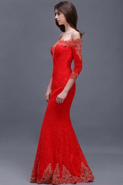 EMELIA | Mermaid Off-shoulder Floor-length Lace Appliques Prom Dresses_3