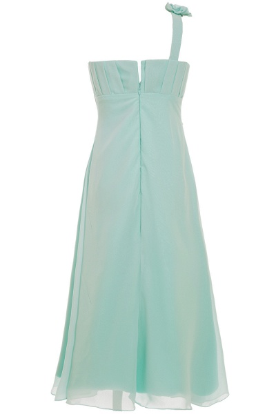 One Shoulder A-line Floor Length Bridesmaid Dress_5