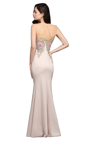 Marvelous Jewel Stretch Satin Mermaid Evening Dress_7