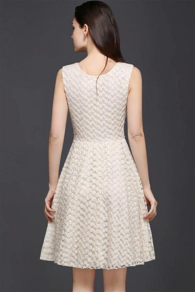 CHRISTINE | Princess Scoop neck Knee-length Lace Sexy Prom Dress_3