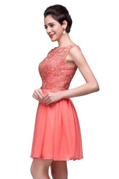 ELIANA | A-line Short Sleeveless Bateau Chiffon Ruffles Lace Top Prom Dresses_15