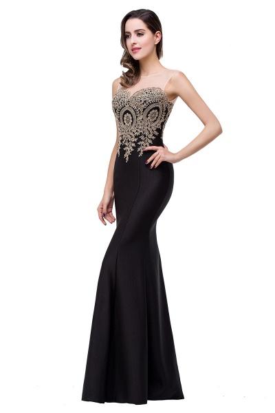 Mermaid Floor-Length Sheer Prom Dresses with Rhinestone Appliques_24