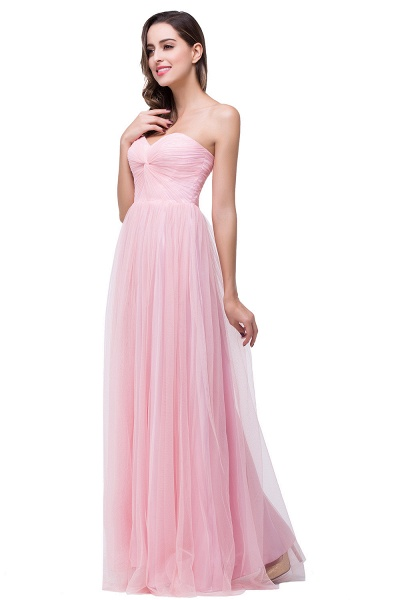 Glorious Strapless Tulle A-line Bridesmaid Dress_4