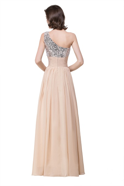 A-line Sequined Floor-length Chiffon Evening Dress_4