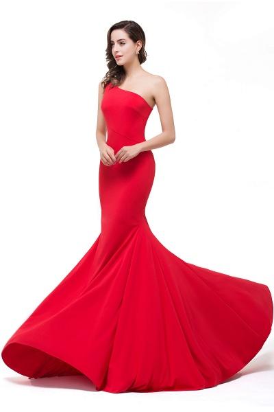 EMMALYN | Mermaid One-Shoulder Floor Length Red Prom Dresses_8