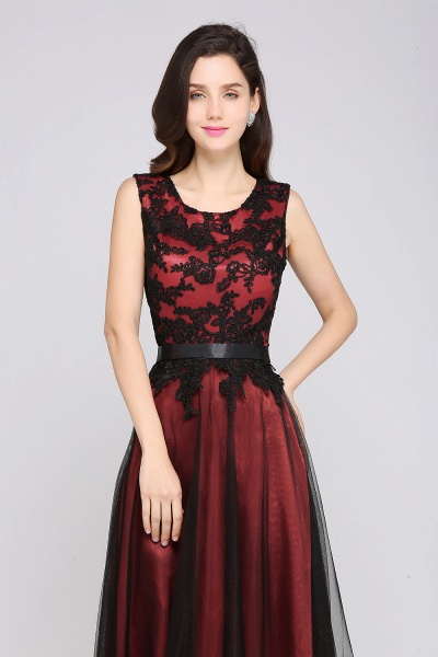 ARABELLA | A-line Scoop Floor Length Lace Cheap Evening Dresses_6
