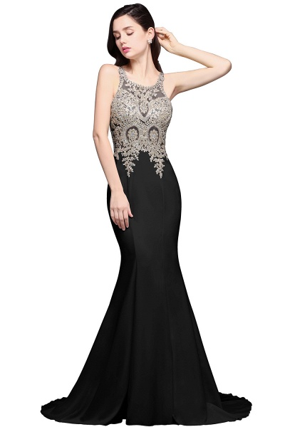 Fascinating Scoop Chiffon Mermaid Prom Dress_2
