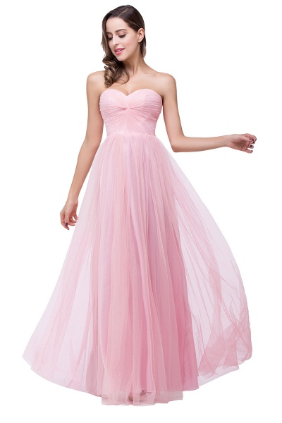 Glorious Strapless Tulle A-line Bridesmaid Dress_5