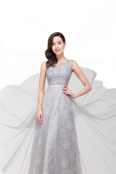 FRANKIE | A-Line Sleeveless Illusion Floor-Length Tulle Prom Dresses with Embroidered Flowers_6