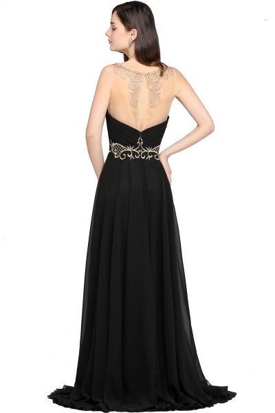 Awesome Jewel Chiffon A-line Evening Dress_3