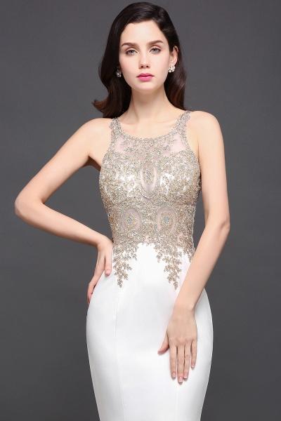 Fascinating Scoop Chiffon Mermaid Prom Dress_6
