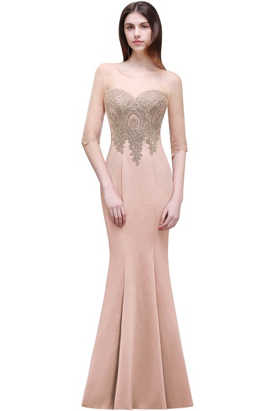 Sleek Jewel Satin Column Evening Dress_1