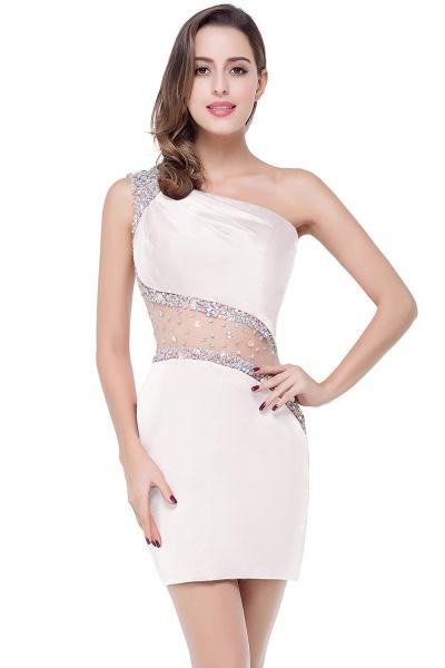 ELLE | Mermaid One-shoulder Short Prom Dresses with Crystal Beadings_1