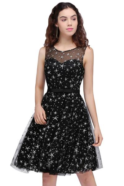 ALISHA   A Line Jewel Sheer Tulle Little Black Short Homecoming Dresses_3