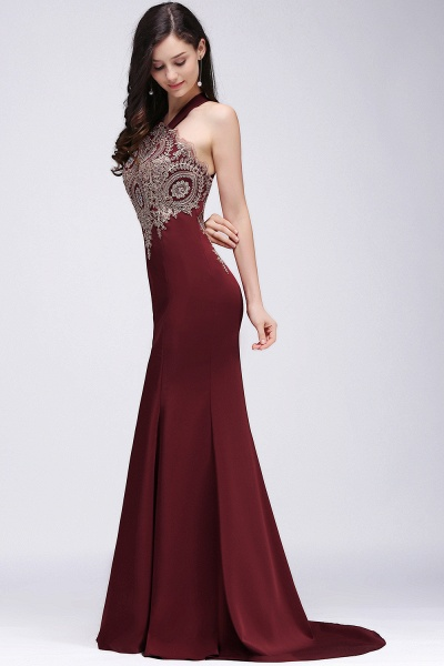 EILEEN | Mermaid Scalloped Floor-length Appliques Burgundy Prom Dresses with Beadings_2