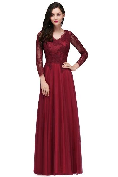 Marvelous V-neck Tulle A-line Prom Dress_4