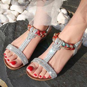 Women's Rhinestone Heels Wedge Heel Sandals_5