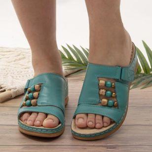 Women's Rhinestone Velcro Heels Wedge Heel Sandals_2