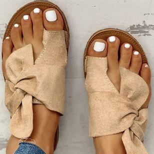 Women's Bowknot Flats Cloth Flat Heel Sandals_5