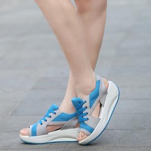 Women's Lace-up Wedge Heel Sandals_2