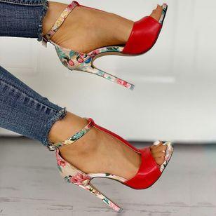 Women's Buckle Heels Stiletto Heel Sandals_3