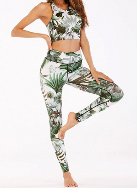 Women's Athletic Casual Polyester Yoga Clothing Suit Fitness & Yoga_4