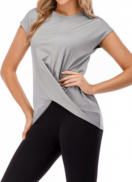 Women's Casual Polyester Fitness T-shirt Fitness & Yoga