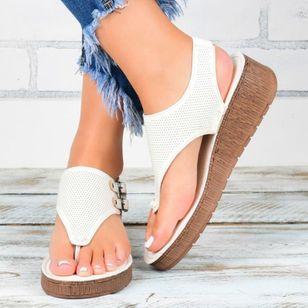Women's Buckle Slingbacks Flat Heel Sandals Platforms_2
