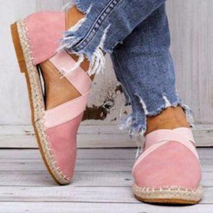 Women's Closed Toe Nubuck Flat Heel Sandals_1