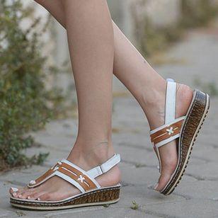 Women's Slingbacks Toe Ring Wedge Heel Sandals_1