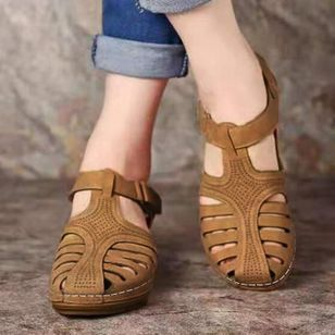 Women's Slingbacks Wedge Heel Sandals_1