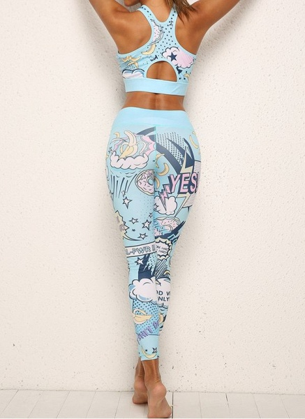 Women's Athletic Casual Sporty Fashion Polyester Yoga Clothing Suit Fitness & Yoga_2