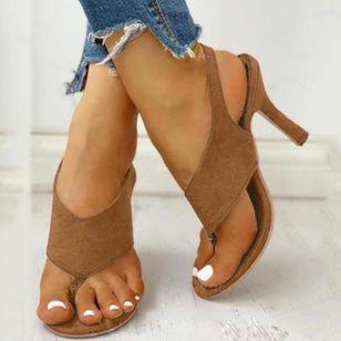 Women's Buckle Slingbacks Flip-Flops Stiletto Heel Sandals_8