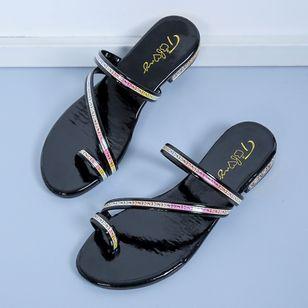 Women's Heels Sparkling Glitter Low Heel Sandals_2